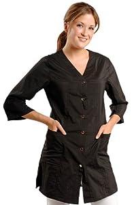 Amazon.com : JMT Beauty 3/4 Sleeve Black Salon Smock
