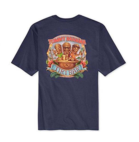 tommy-bahama-tiki-bar-t-shirt-pour-homme-bleu-marine-taille-s