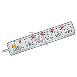 MX 5 SOCKETS SURGE & SPIKE PROTECTOR - UNIVERSAL SOCKETS - 1.5M CORD LENGTH