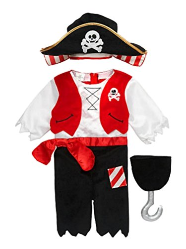 Koala Kids Infant Boys Pirate Costume with Hat & Plush Toy Hook (Koala Kids compare prices)