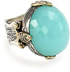 bora chalcedony moon ring size 7 jewelry