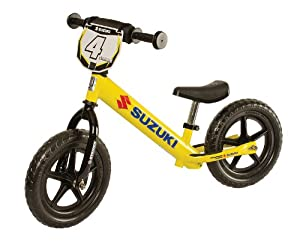 Strider Childrens No-Pedal Balance Bike Suzuki Yellow