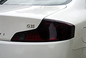 Aggressive Overlays Fits: Infiniti G35 Coupe - Smoked Vinyl Tail Light overlay kit film from Aggressive Overlays