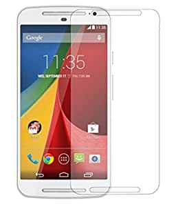 Motorola Moto G (2nd Gen) Compatible Tempered Glass Screen Protector (Antishock, Curved Edged) (Pack of 2, Only Front Transparent Screen Protector) (Combo Offer, get a VJOY EP-10 Champ in the ear earphone, with mic (RED) Compatible with Motorola Moto G (2nd Gen) worth Rupee 599/- absolutely free with Screen Protector)