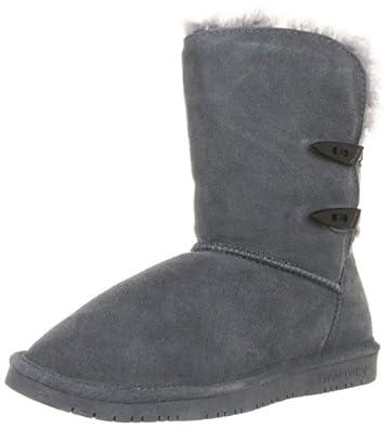 BEARPAW Women's Abigail Boot,Charcoal,5 M US