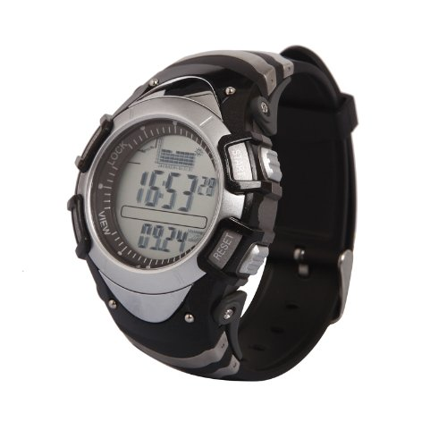 Generic Unique Design Multifunctional Fishing Water Resist Watch With Storm Alarm,Altimeter,Barometer,Thermometer,Weather Forecast,Stopwatch Silver