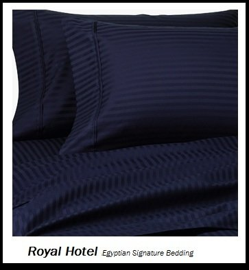Royal Hotel's Striped Navy 1200-Thread-Count