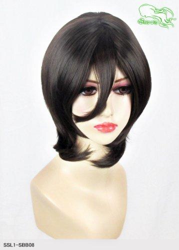 スキップウィッグ 魅せる シャープ 小顔に特化したコスプレアレンジウィッグ マシュマロショート ナチュラルブラック