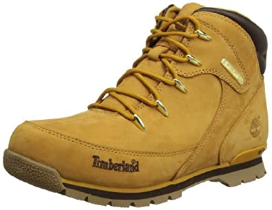 Timberland Euro Hiker FTC_Euro Rock Hiker, Unisex-Kinder Kurzschaft Stiefel, Braun (WHEAT), 27 EU (9.5 Kinder UK)