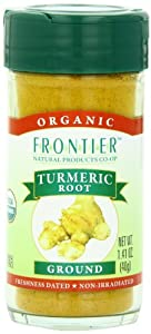 Frontier Organic Turmeric Root, Ground, 1.41-Ounce Container (Pack of 4)