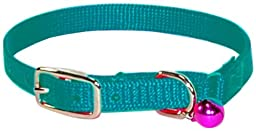 Hamilton Safety Cat Collar with Bell, Teal, 3/8\
