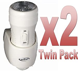 "**TWIN-PACK** 3-in-1 Rechargeable Torch, Automatic Night Light & Emergency Power Cut Light. As seen on BBC's ""Dragons Den"""