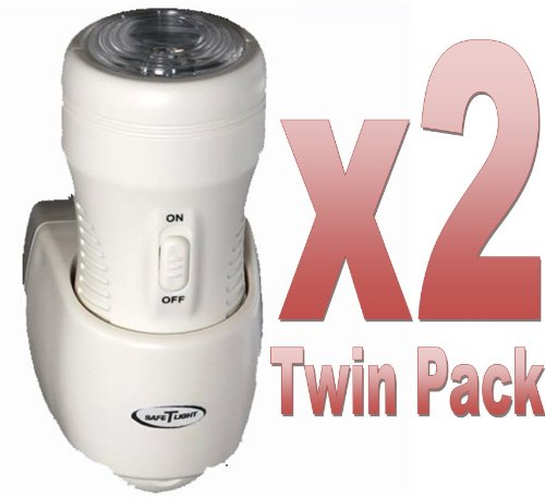 **TWIN-PACK** 3-in-1 Rechargeable Torch, Automatic Night Light & Emergency Power Cut Light. As seen on BBC's
