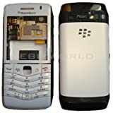 GENUINE WHITE HOUSING FOR BLACKBERRY PEARL 9105 9100 KEYPAD/LENS/COVER/MIDDLE/3G