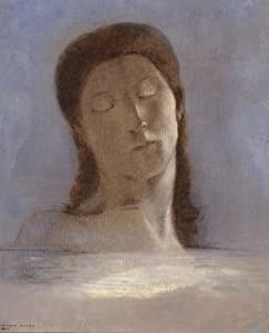 Classic Art Poster - Closed Eyes by Odilon Redon 24 X 19.5