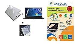 JAIFAON 3 IN 1 COMBO - Laptop Screen Guard, Keyboard Protector and Laptop Skin for all Laptops Size 15.6
