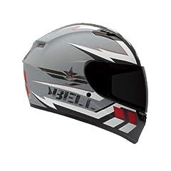 Bell Legion Adult Qualifier On-Road Racing Motorcycle Helmet - Silver White Black -... by Bell
