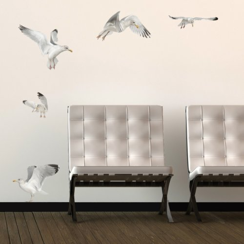 Realistic Seagulls Wall Decals
