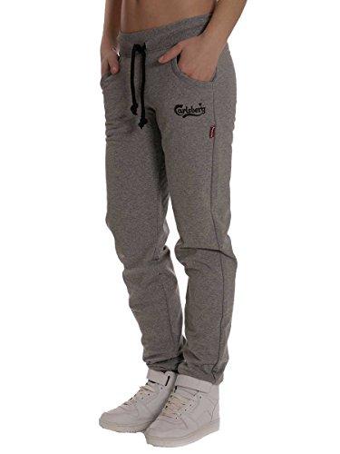 Pantalone in Felpina Carlsberg Donna Cbd1410 Made in italy Grigio Medio, XS MainApps
