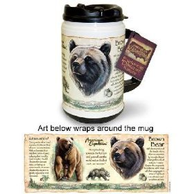 American Expedition 24-Ounce Thermal Mug (Grizzly Bear)
