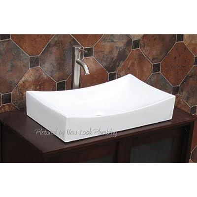 Bathroom Rectangular Ceramic Porcelain Vessel Vanity Sink combo 7235 ...