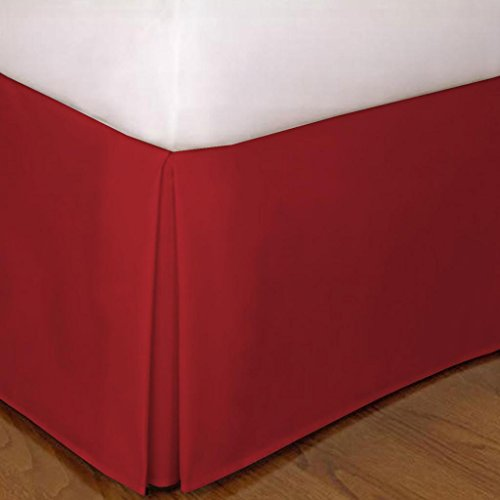 "650 Tc Egyptian Cotton 1X Bed Skirt For Rv'S, Campers, Bunk & Travel Trailers 10"" Drop Rv Full Xl (53X80"") Burgundy Solid front-398050"