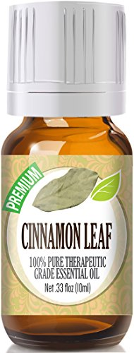 Cinnamon Leaf 100% Pure, Best Therapeutic Grade Essential Oil - 10ml / .33 Ounces.