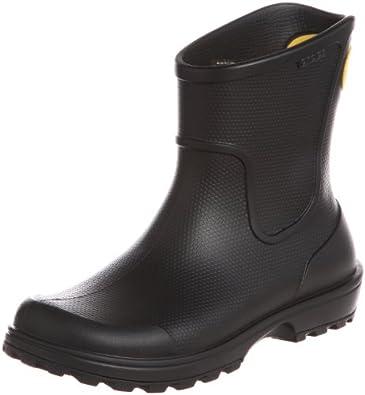 crocs Wellie Rain Boot, Herren Halbschaft Gummistiefel, Schwarz (Black 001), 39/40 EU