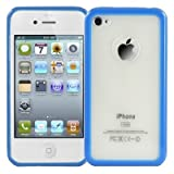 Logotrans Bumper Series Protective Case Silicone for Apple iPhone 4 Blue