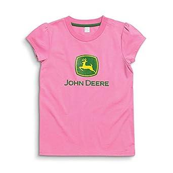 John deere toddler and little girls pink for John deere shirts for kids
