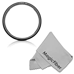 58MM Lens Conversion Adapter Ring for CANON POWERSHOT SX50 HS Cameras + MagicFiber Microfiber Lens Cleaning Cloth