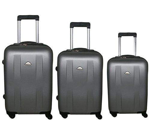 3tlg. Trolley Koffer Reisekoffer Set ABS Hartschale