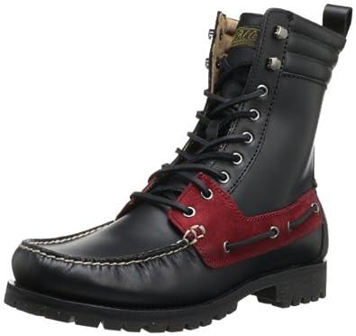 Polo Ralph Lauren Men's Regiment Boot,Black/Red/Black,7 D US