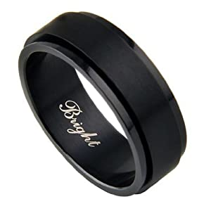 316L Black Stainless Steel Spinner Ring