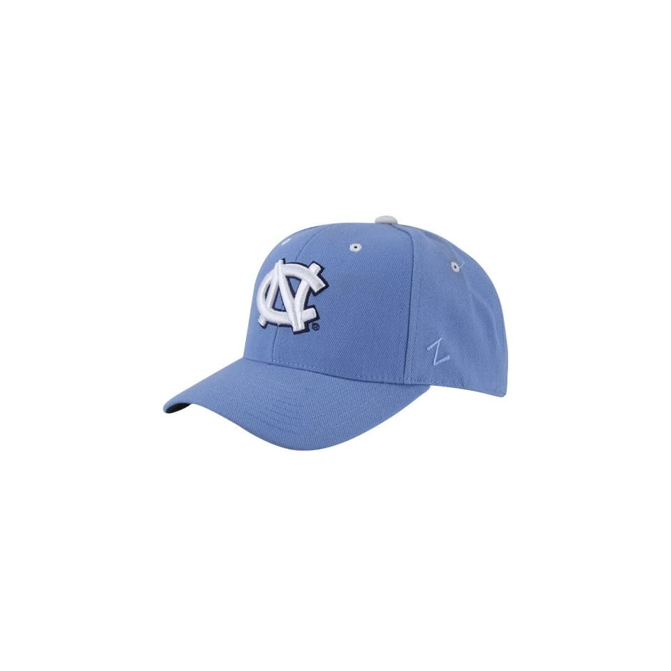 100% authentic fa399 02db0 NCAA Zephyr North Carolina Tar Heels (UNC) Carolina Blue Fitted Hat with  White NC