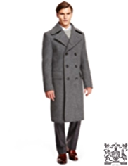 Best of British Pure Wool Double Breasted Trench Coat