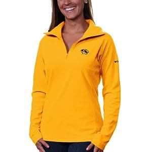 NCAA Kansas Jayhawks Collegiate Glacial II Half Zip Fleece Jacket by Columbia