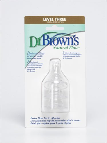 Dr. Brown'S Standard Nipples :: Level Three, 3-Pack front-890880