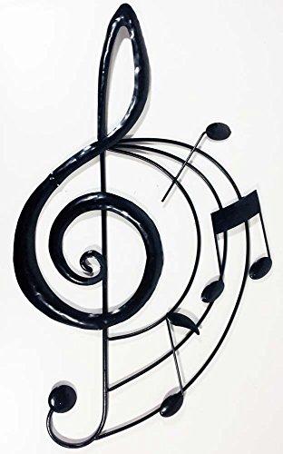 Neu-Moderne-Wanddeko-aus-Metall-Decor-Skulptur-Musik-Notenschlssel-Scroll