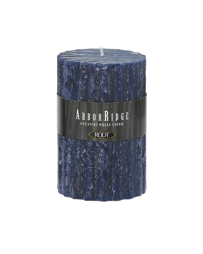 Root Unscented ArborRidge Pillar Candle, 3-Inch by 4-1/2-Inch, Abyss Blue (Blue Pillar compare prices)