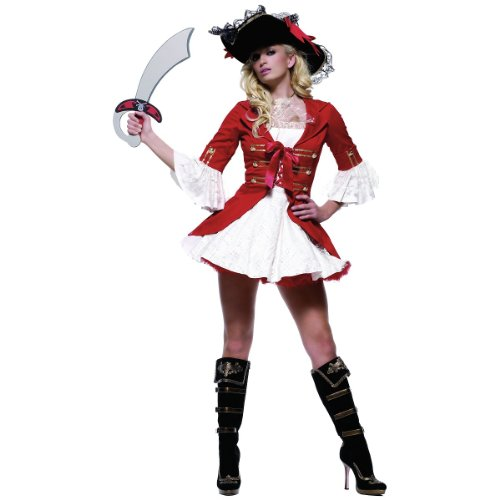 Captain Booty Costume - X-Large - Dress Size 14-16