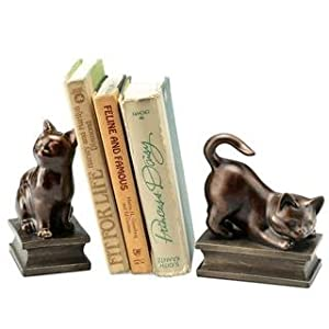 Playful Cats Bookends Pair Decorative