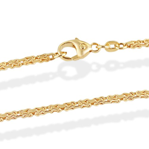 Goldmaid Unisex-Kette Königskette Exklusiv 14 Karat 585 Gelbgold 45 cm Karabinerverschluss Ke 5693GG585