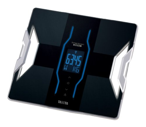 TANITA  【iPhoneに対応・アプリで健康管理】 & 【体重50g単位表示】 体組成計 インナースキャンデュアル ブラック RD-901-BK