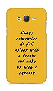 AMEZ always remember to fall asleep with a dream Back Cover For Samsung Galaxy J7