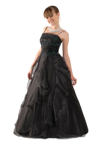 Envie/Paris – 1005 LISA Abendkleid Ballkleid 1-teilig in Schwarz Gr.38-50
