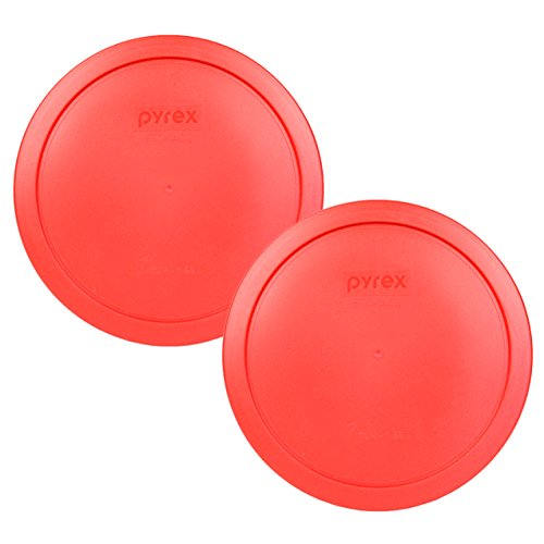 Pyrex 7402-PC Red Round Storage Replacement Lid Cover fits 6 & 7 Cup 7