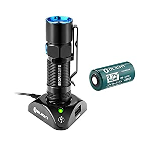 [Nouveauté] Olight® S10R Baton II Lampe de Poche Rechargeable avec LED Cree XP-L 500 Lumens + 1 x Batterie RCR123A 650mAh Etanche 5 ANS de GARANTIE