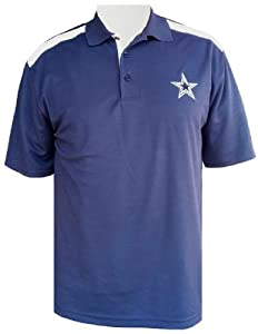 Dallas Cowboys Mens Edge Performance Polo by Cowboys Team Apparel