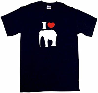 I Heart Love Elephant Little Boy's Kids Tee Shirt